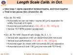 length scale calib in oct