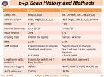 p p scan history and methods