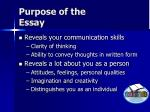 purpose of the essay