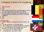 la belgique la suisse et le luxembourg
