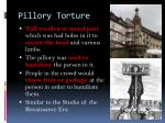 pillory torture