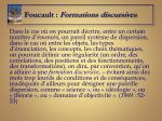 foucault formations discursives