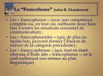 la francofaune selon r chaudenson
