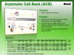 automatic call back acb