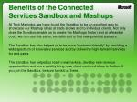 benefits of the connected services sandbox and mashups