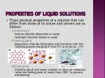 properties of liquid solutions