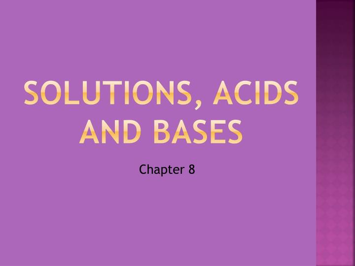 solutions acids and bases n.