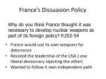 france s dissuasion policy