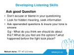 developing listening skills1