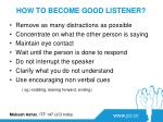 how to become good listener