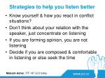 strategies to help you listen better