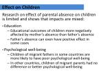 effect on children