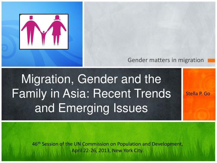 migration gender and the family in asia recent trends and emerging issues n.