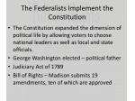 the federalists implement the constitution