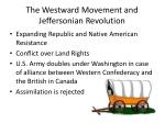 the westward movement and jeffersonian revolution