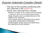 enzyme substrate complex details