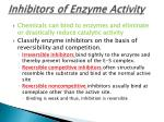 inhibitors of enzyme activity