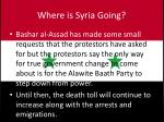 where is syria going