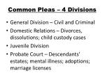 common pleas 4 divisions