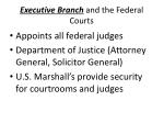 executive branch and the federal courts