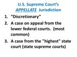 u s supreme court s appellate jurisdiction