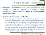 a regra de ouro golden rule