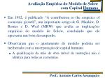 avalia o emp rica do modelo de solow com capital humano