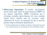 avalia o emp rica do modelo de solow com capital humano1