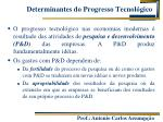 determinantes do progresso tecnol gico