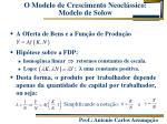 o modelo de crescimento neocl ssico modelo de solow2