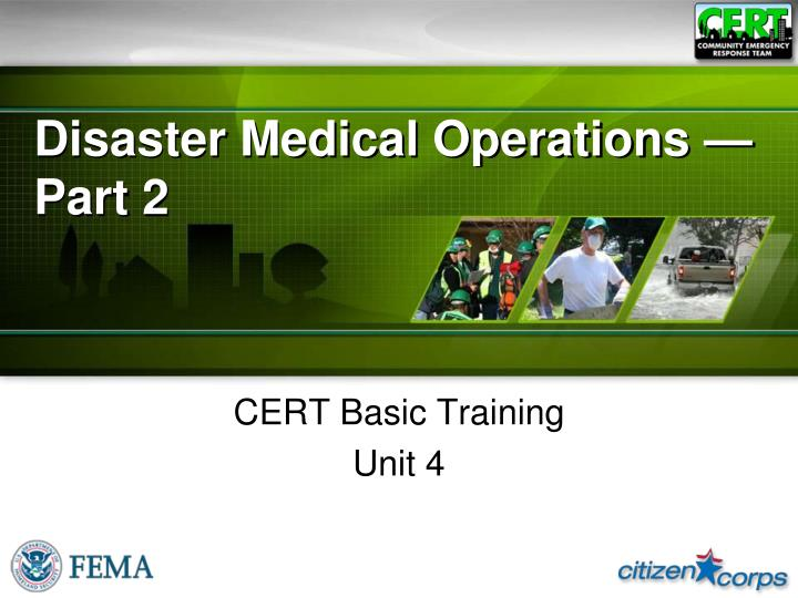 disaster medical operations part 2 n.