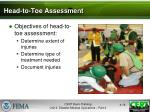 head to toe assessment