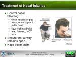 treatment of nasal injuries