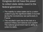 congress did not have the power to collect state debts owed to the federal government2