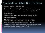 confronting dated distinctions