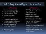 shifting paradigms academia