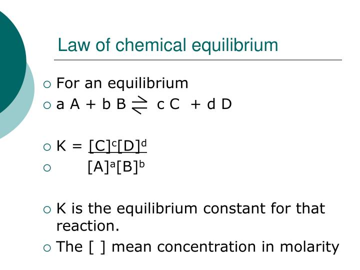 Law of chemical equilibrium