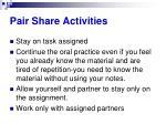 pair share activities