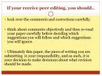 if your receive peer editing you should