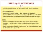 step 4 suggestions1