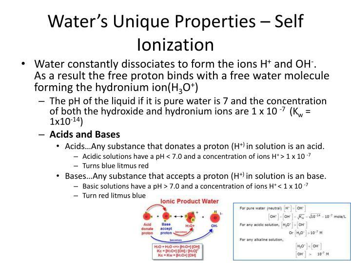 Water's Unique Properties – Self