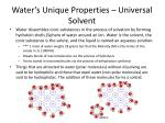 water s unique properties universal solvent