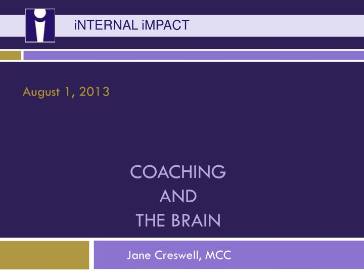 coaching and the brain n.