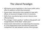 the liberal paradigm1