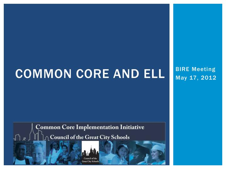 common core and ell n.