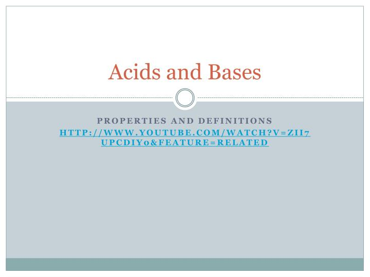 acids and bases n.