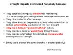 drought impacts are tracked nationally because