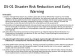 ds 01 disaster risk reduction and early warning