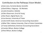 contributors to the pathways vision model