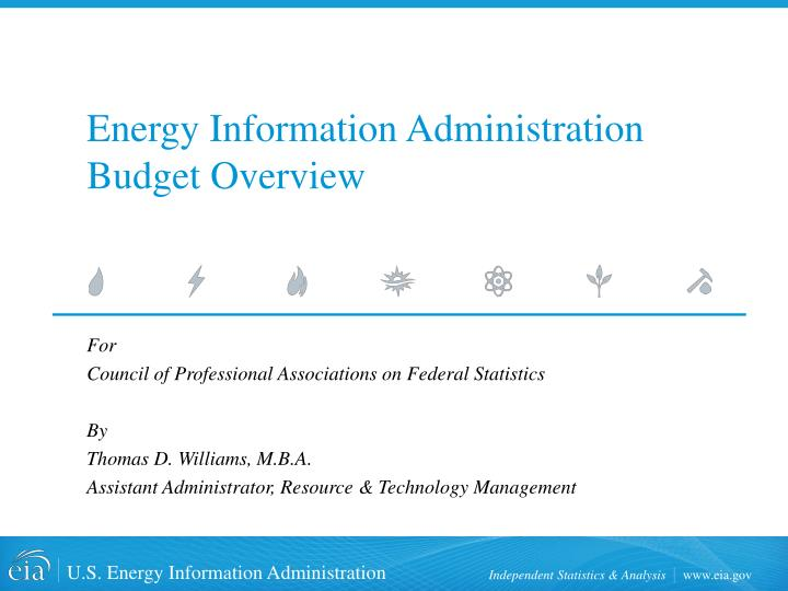 energy information administration budget overview n.